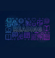 reading books colorful line banner vector image