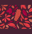 autumn seamless pattern with leaves red falling vector image