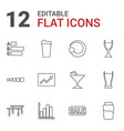 bar icons vector image vector image