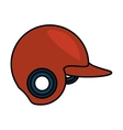 baseball helmet equipment uniform icon vector image vector image