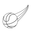 basketball ball sport or fitness related icon vector image vector image