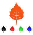 birch leaf icon vector image