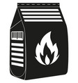 black and white coal bag silhouette vector image