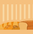 breads over brown background vector image vector image