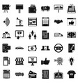 business contract icons set simple style vector image vector image