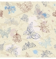 Butterflies seamless background vector image vector image