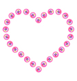 Button heart vector image vector image