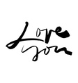 Calligraphic inscription Love Valentines Day vector image