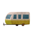 camping trailer caravan isolated on white vector image vector image