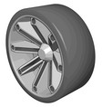 car tire on white background vector image vector image