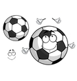 Cartoon football or soccer ball mascot vector image