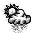 cartoon image of weather icon day symbol vector image vector image