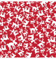 christmas reindeer red pattern eps10 vector image