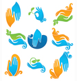 clean and natural hands vector image vector image