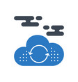 cloud computing glyph icon vector image vector image