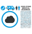 Cloud Icon with 1000 Medical Business Pictograms vector image vector image