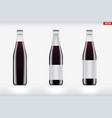 cola bottle set mockup vector image