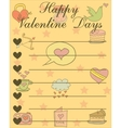 Collection valentine day greeting card vector image