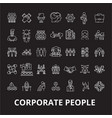 corporate people editable line icons set on vector image vector image
