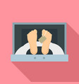 corpse in forensic cell icon flat style vector image vector image