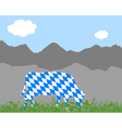 Cow alp and bavarian flag vector image vector image