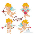 cupid set cupids bow cupid in different vector image