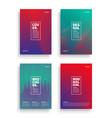 different brochures design templates vector image vector image