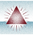 Dotwork raster triangle with rays vector image