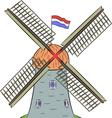 Dutch windmill vector image vector image