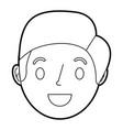 face smiling man adult cartoon character vector image vector image