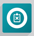 flat denied icon vector image