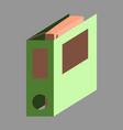 flat icon on stylish background folder for vector image vector image