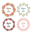 Floral Wreaths Set Original vector image vector image