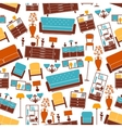 Furniture seamless pattern with interior elements vector image