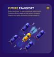 future transport banner intelligent cars traffic vector image
