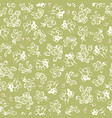 green pattern with cream blossom vector image vector image