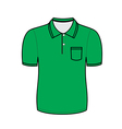Green polo shirt outline vector image vector image
