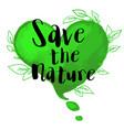 green watercolor heart vector image vector image