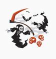 grim reaper with scyfor halloween vector image