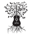guitar tree vector image vector image