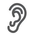 human ear glyph icon anatomy and biology vector image vector image