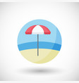 lifeguard umbrella flat icon vector image vector image