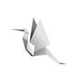 origami stork vector image vector image