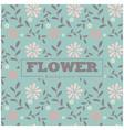 pink flower blue background pattern image vector image