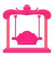 pink swing icon cartoon style vector image vector image