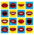 Pop Art lips vector image