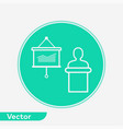 presentation icon sign symbol vector image