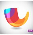 Rainbow logo of shofar vector image