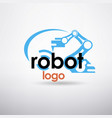 robotic hand stylized logo template vector image vector image