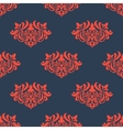 Seamless floral pattern with arabesque elements vector image vector image